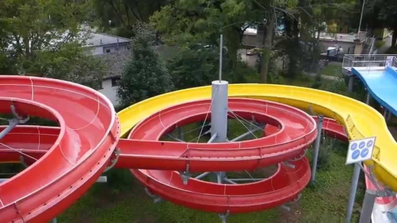 Rheinstrandbad Rappenwört Karlsruhe - rote Riesenrutsche Onride