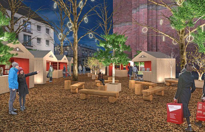 Innovativ und handgemacht: Das Modell des Weihnachtsmarkts weckt Vorfreude auf die Adventszeit. Foto: djd/Stadt Krefeld
