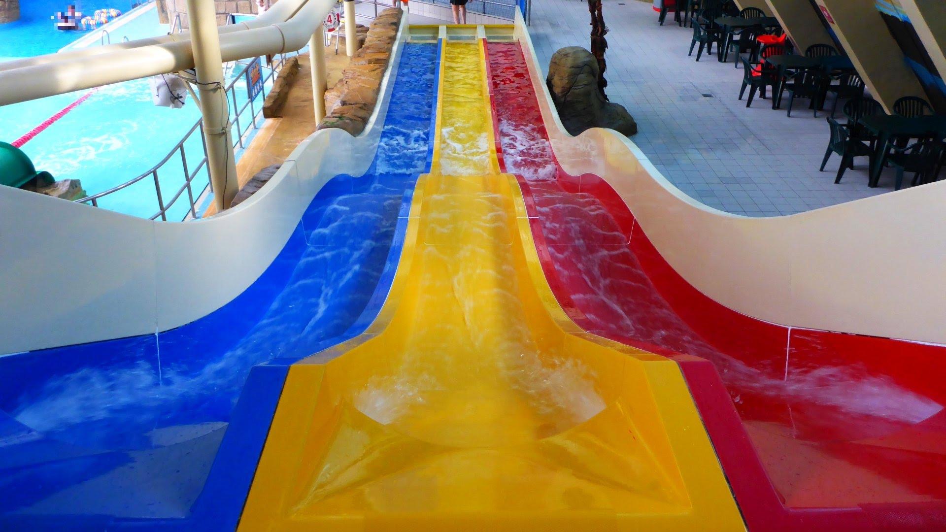 Treetops Water Chutes :: Triple Slide | Sandcastle Waterpark Blackpool