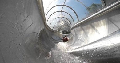 Tunnelrutsche mit Plexiglas-Überdachung | Südbad Bremen