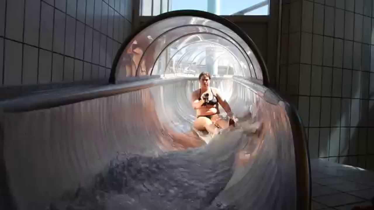 transparente Edelstahl-Tunnelrutsche   Arriba Norderstedt
