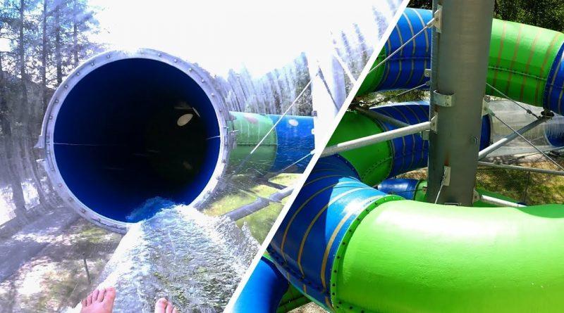 Reifenrutsche :: Röhrenrutsche mit Glasröhre | Aqua Dome Therme Längenfeld