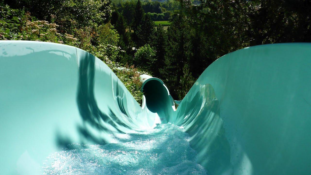 Alpenrutsche :: offene Speed-Rutsche   Thermalbad Brigerbad Brig