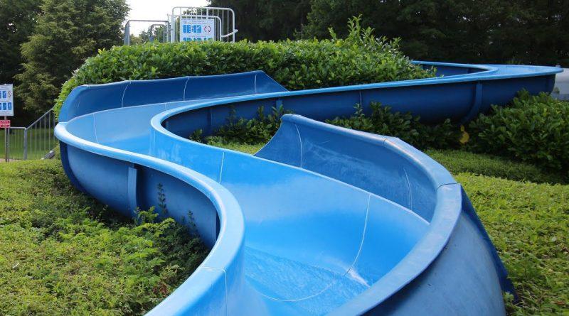 "blaue Riesenrutsche ""Quicky"" :: Freibad-Rutsche | Wacker-Freibad Burghausen"