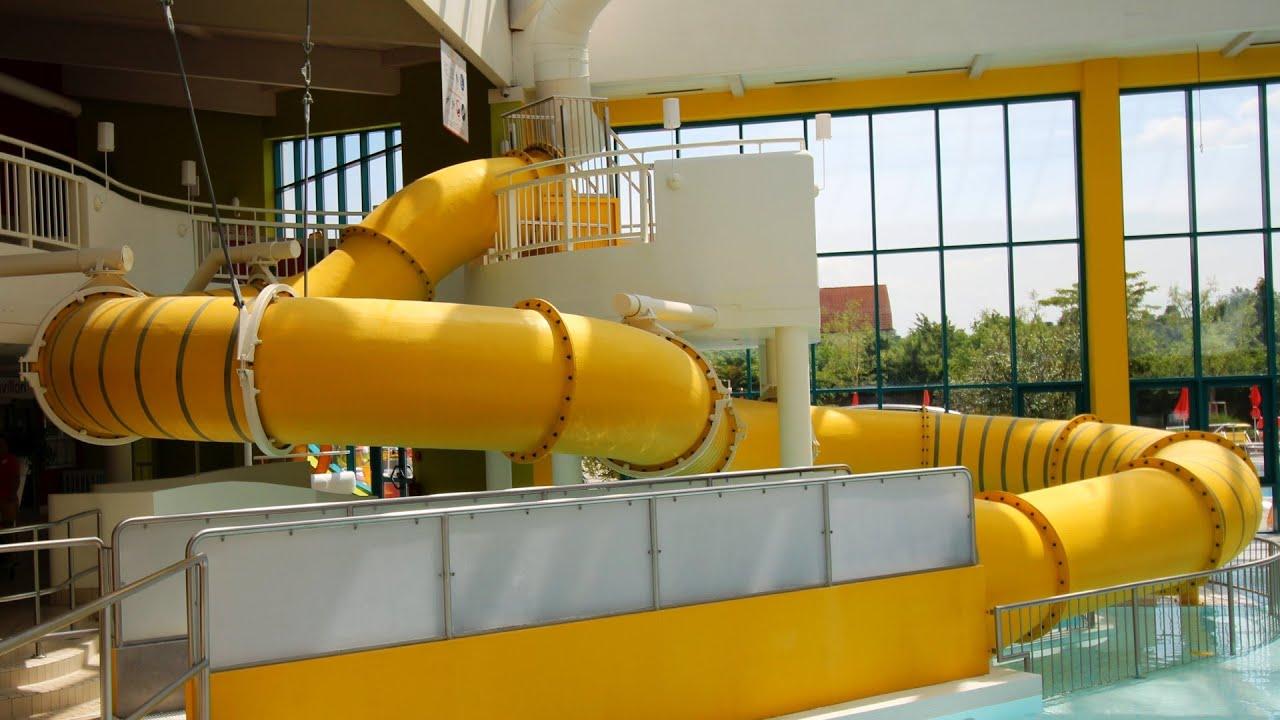 gelbe Riesenrutsche :: Kinder-Röhrenrutsche   Sunny Bunny's Water World Lutzmannsburg