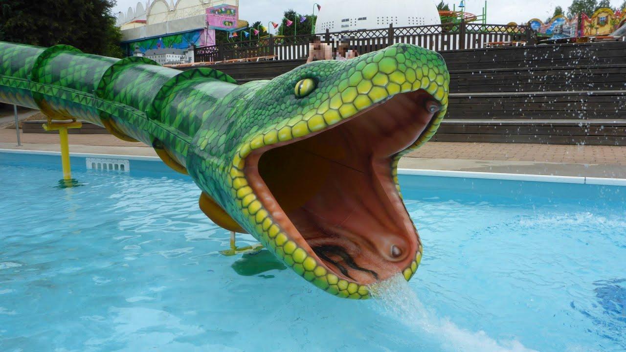 grüne Turborutsche :: Schlangenrutsche | Halmstad Äventyrsland
