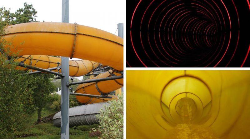 gelbe Reifenrutsche :: Black Hole (Running Lights) | Therme Obernsees Mistelgau