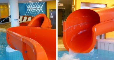 offene Riesenrutsche :: Orange Water Slide | Therme Obernsees Mistelgau