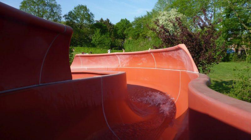 offene Riesenrutsche :: rote Freibad-Rutsche | Freibad Harsefeld
