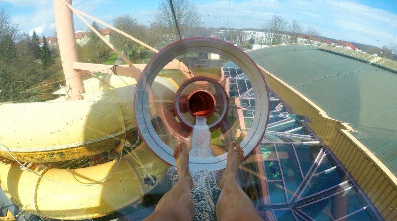 Turborutsche :: Speed-Rutsche mit Glasröhre   Badeparadies Eiswiese Göttingen