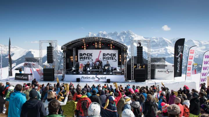 Festival Rock The Pistes in Champéry - Bild © JB Bieuville / Zur Verfügung gestellt von Schweiz Tourismus