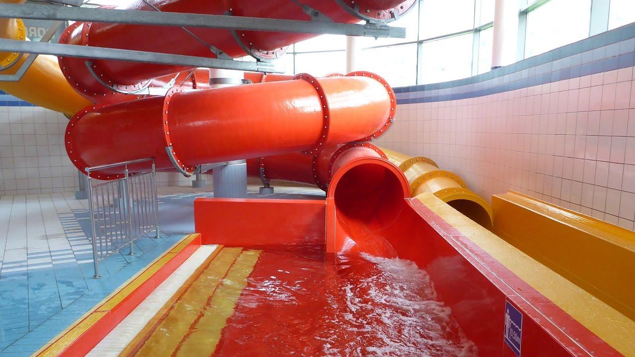 rote Röhrenrutsche :: Riesenrutsche | Orka Park Wodny Bolesławiec