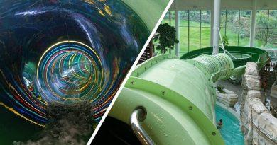 Regenboog :: Rainbow Water Slide   Bellewaerde Aquapark Ypern